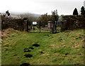 SO2605 : Molehills near the entrance to an old cemetery, Varteg by Jaggery