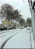SX9065 : Parkhurst Road, Torre, in the snow by Derek Harper