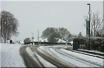SX9065 : Snowy junction in Torre by Derek Harper