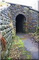 SE0640 : Bridge for Keighley and Worth Valley Railway over footpath by Roger Templeman