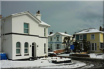 SX9064 : Junction of Crownhill Park and Avenue Road, Torquay, in the snow by Derek Harper