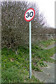 TQ3405 : Roadsign on Downland Road by Adrian Cable