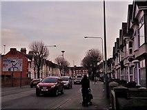 SU1584 : County Road, Swindon by Chris Brown