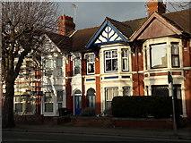 SU1585 : Houses on County Road, Swindon by Chris Brown