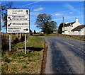 ST4496 : Four-way directions sign in Gaerllwyd, Monmouthshire by Jaggery