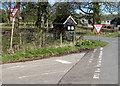ST4496 : Two sizes of Give Way sign in Gaerllwyd, Monmouthshire by Jaggery