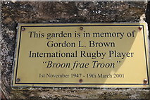 NS3230 : Plaque at Memorial Garden, Troon by Billy McCrorie
