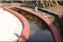 NS3230 : Water Feature at Memorial Garden, Troon by Billy McCrorie