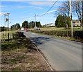 ST4496 : B4235 from Gaerllwyd towards Usk by Jaggery