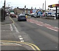 SN4900 : Towards a bend in the A484, Sandy, Llanelli by Jaggery