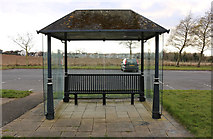 NS3528 : Shelter at Monkton & Prestwick New Cemetery by Billy McCrorie
