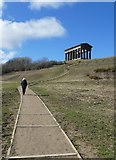 NZ3354 : Climbing up to the Penshaw Monument by Graham Hogg