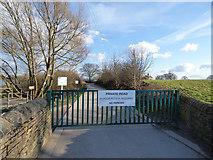 SE2824 : Ardsley Reservoir: access gate by Stephen Craven