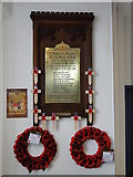 TG2309 : WW1 memorial in St. Martin at Palace church, Norwich by Adrian S Pye