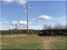 SJ7744 : Public footpath meets lane by Jonathan Hutchins