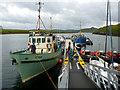 NB0934 : MV Cuma taking sea kayaks on board at Miabhaig by Andy Waddington
