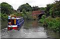 SP3686 : Narrowboat at Bedworth Hill Bridge in Warwickshire by Roger  Kidd