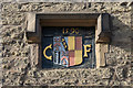 SO5175 : Crest, Foxe's Almshouses by Ian Capper