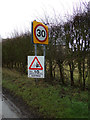 TL1419 : Roadsign on Chiltern Green Road by Adrian Cable