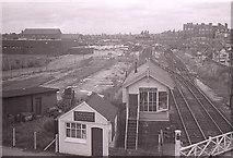 SJ7788 : Altrincham North signal box and level crossing by Richard Sutcliffe