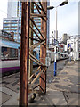 SJ8497 : Oxford Road station - rusty steelwork by Stephen Craven