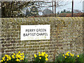 TL1419 : Perry Green Baptist Chapel sign by Adrian Cable