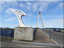 SD3317 : Approach to the Marine Way bridge by Stephen Craven