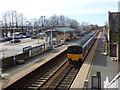 SD4412 : Burscough Bridge station - eastbound train by Stephen Craven