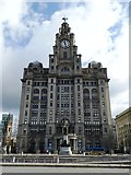 SJ3390 : Royal Liver Building by Anthony Parkes