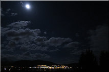NN1073 : Moon over Fort William by Anne Burgess