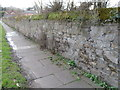 SJ2786 : Stone wall alongside Arrowe Park Road by John S Turner