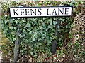 TM4977 : Keens Lane sign by Adrian Cable