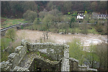SO5074 : River Teme from Ludlow Castle by Stephen McKay