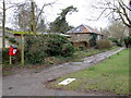 TM4977 : Keens Lane & footpath by Adrian Cable