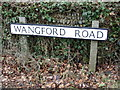 TM4977 : Wangford Road sign by Adrian Cable