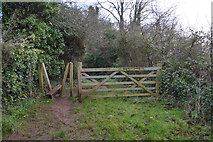 SX9268 : Gate and stile, John Musgave Heritage Trail by N Chadwick