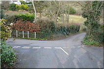 SX9268 : Rockhouse Lane, Brim Hill junction by N Chadwick