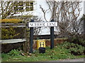 TM4978 : School Lane sign by Adrian Cable