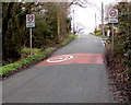 ST0585 : Start of the 20 zone, Castellau Road, Beddau by Jaggery