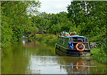 SP4678 : Oxford Canal west of Cathiron in Warwickshire by Roger  Kidd