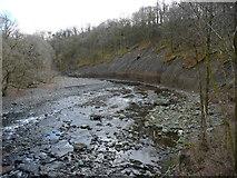 NY2824 : River Greta, looking upstream [locally east] by Christine Johnstone