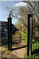 SO8377 : Arched entrance to Springfield Park by Philip Halling