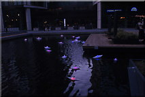 "TQ2681 : View of Steve Messam's ""Flotilla"" in the Paddington Basin #4 by Robert Lamb"