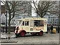 SJ3489 : Vintage ice cream van on the docks at Liverpool by Jonathan Hutchins