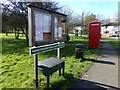 TM3674 : Walpole Village Notice Board by Adrian Cable