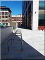 SE2933 : Wellington Place, Leeds (4) - cycle parking by Stephen Craven
