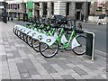 SJ3490 : Liverpool City Bike station by Jonathan Hutchins