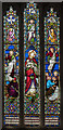 SK7790 : Stained glass window, All Saints' church, Beckingham by Julian P Guffogg