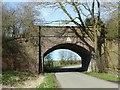 SK6805 : Disused railway bridge over Ingarsby Lane by Alan Murray-Rust