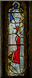 SK7288 : Small Stained glass window, St Peter's church, Clayworth by Julian P Guffogg